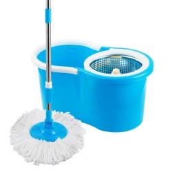 Mop Esfregao Limpeza Pratica c/ Cesto Inox Uitech