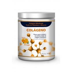 Colágeno Hidrolisado 4Yourfamily previne celulite e rugas - Sabor Laranja 200g