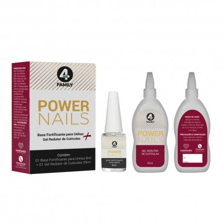 Kit Base Fortificante p/ Unhas + Gel Redutor Cutítulas 4YourFamily Multifamilia